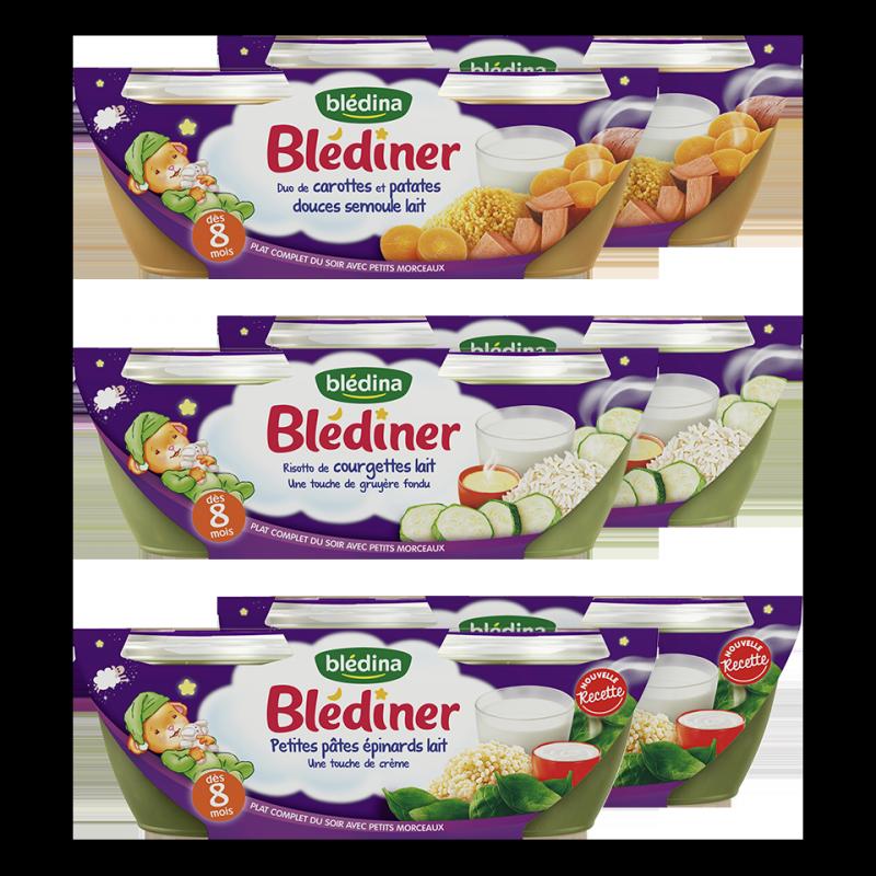 Lot Blédiner - Dès 8 Mois