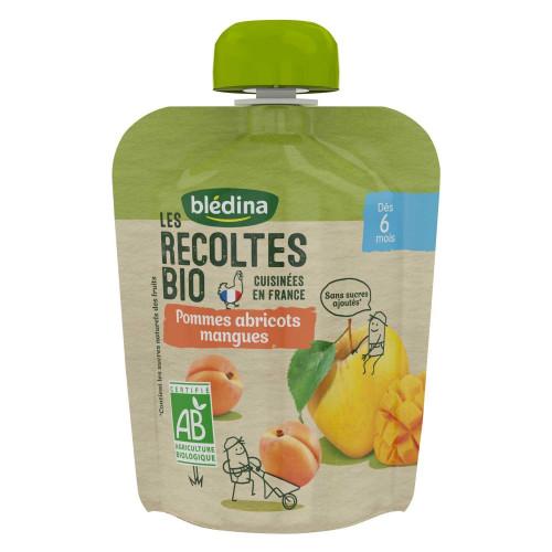 Pack Gourdes BIO Pommes Abricots Mangues