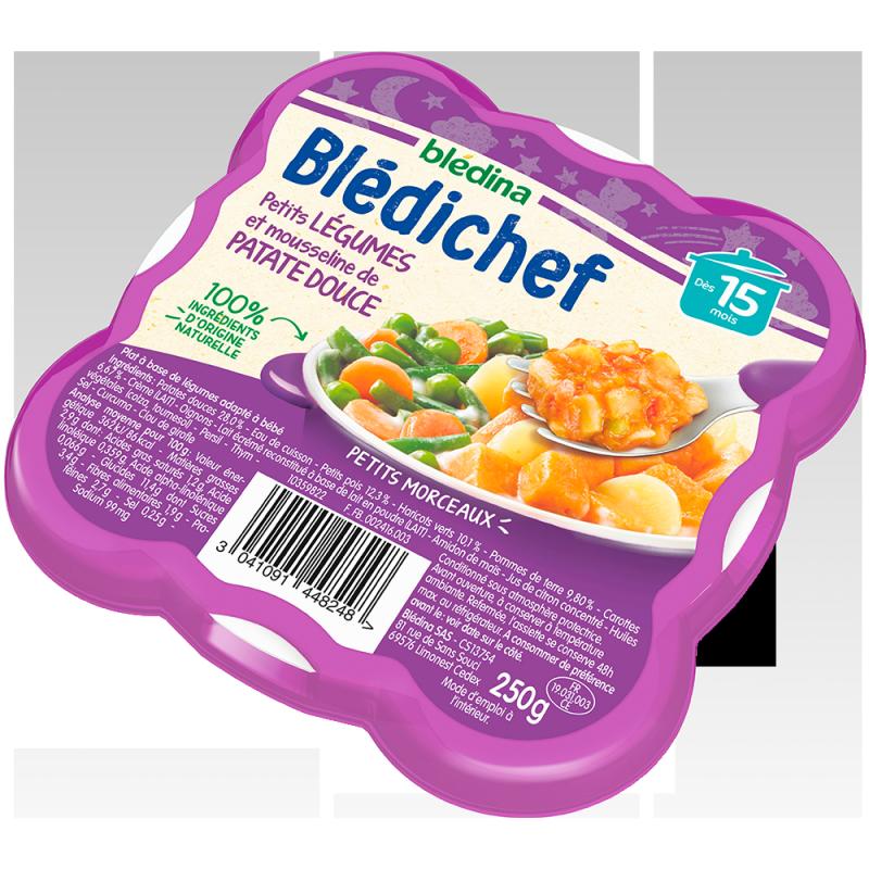 Blédichef Petits légumes et mousseline de patate douce