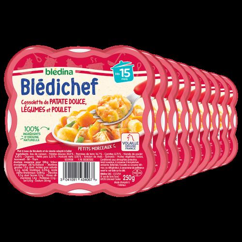 Pack Blédichef Cassolette de patate douce, légumes et poulet