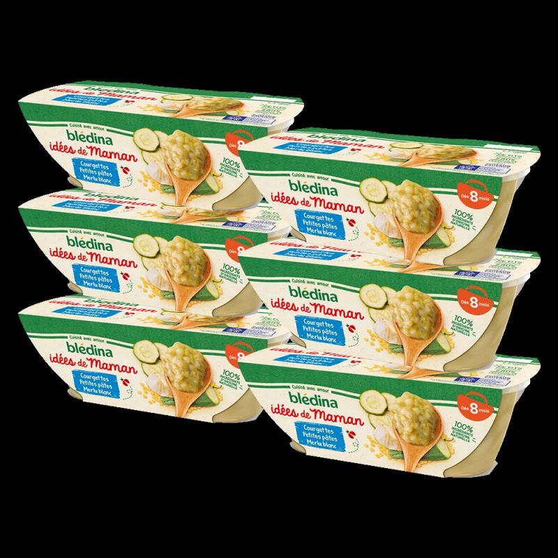 Pack Idées de Maman Courgettes petites pâtes Merlu blanc