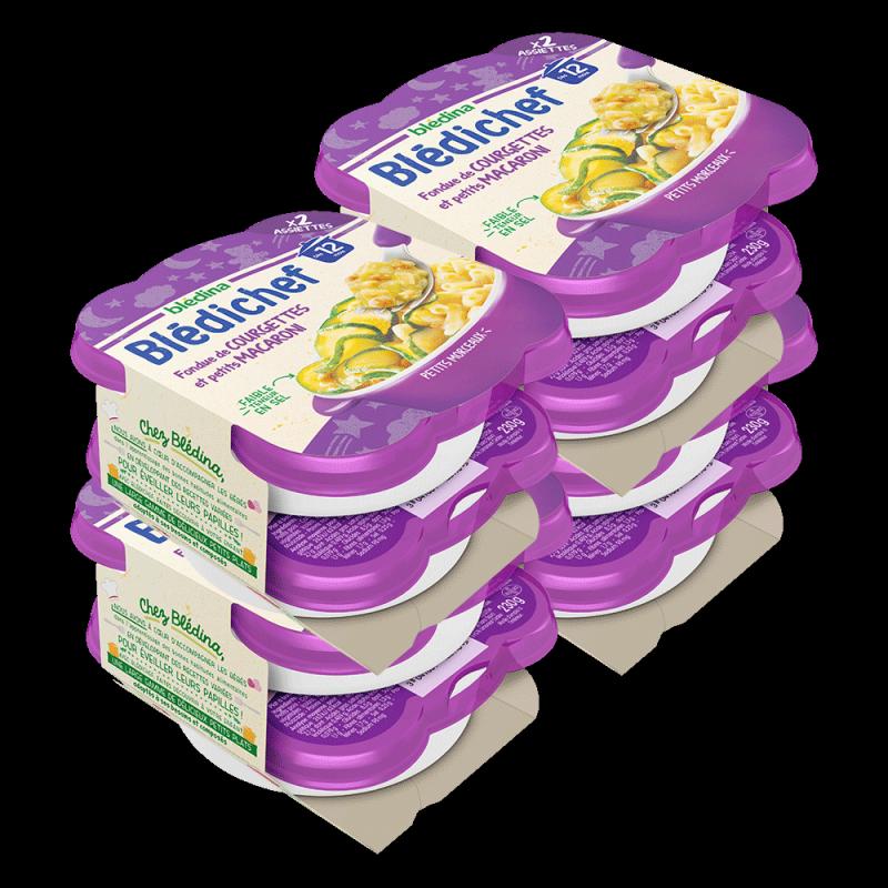 Pack Blédichef Fondue de Courgettes et petits Macaroni