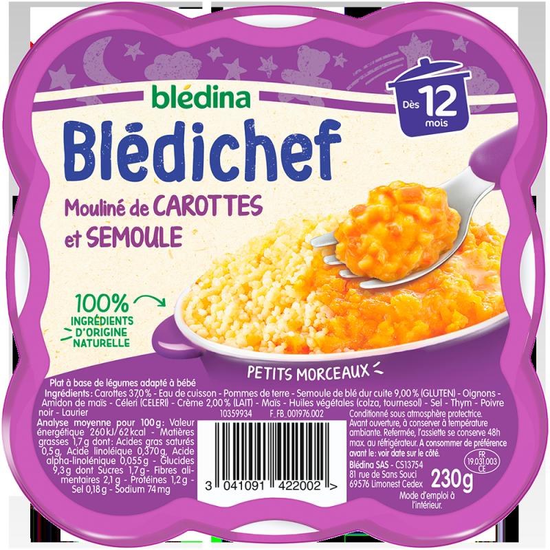 Blédichef Mouliné de carottes et semoule