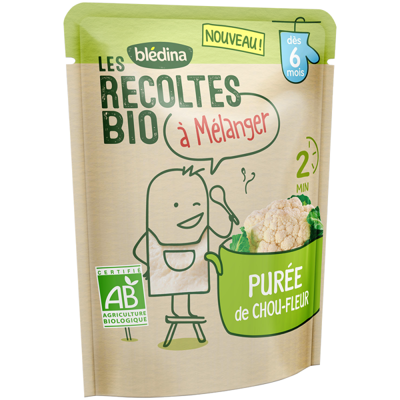 Les récoltes bio à mélanger Purée de Chou-fleur