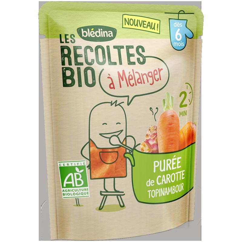 Les récoltes bio à mélanger Purée de Carotte Topinambour