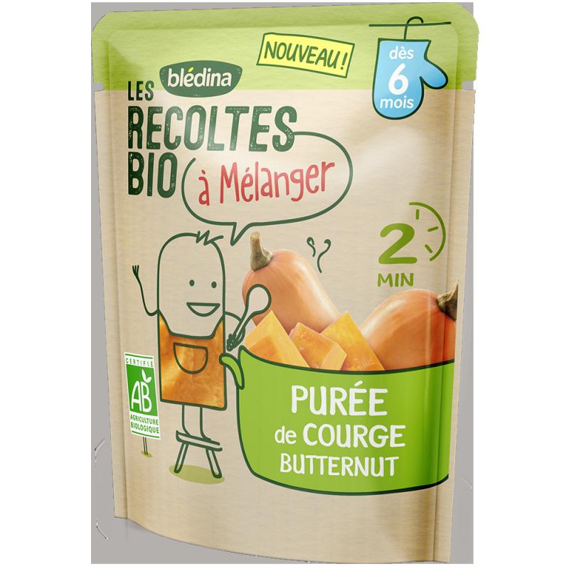 Les récoltes bio à mélanger Purée de Courge Butternut