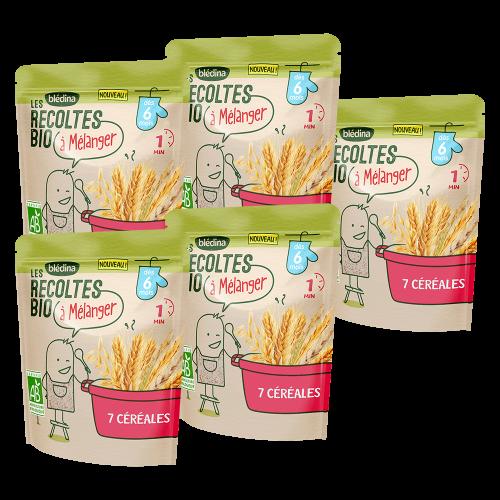 Pack Les récoltes Bio à mélanger - 7 Céréales