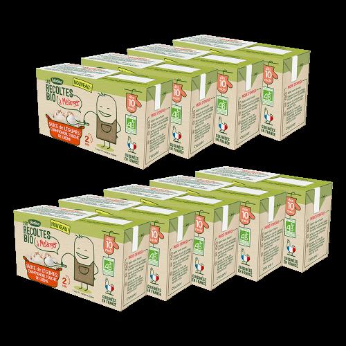 Pack Les récoltes Bio à mélanger Sauce de Légumes Champignon et touche de crème