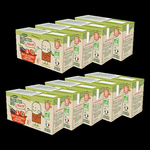 Pack Les récoltes Bio à mélanger Sauce de légumes aubergine tomate romarin