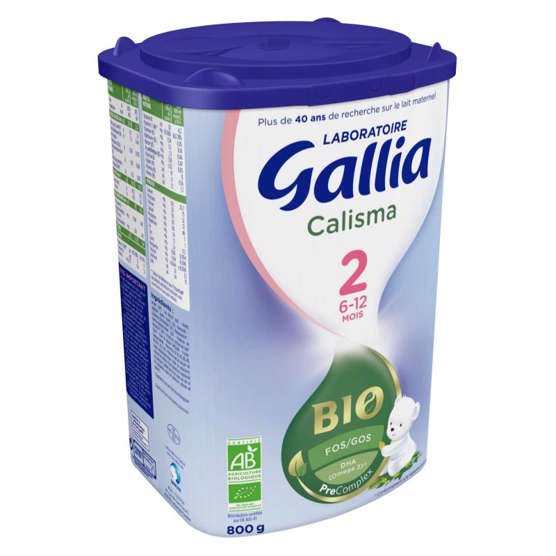 Laboratoire Gallia Calisma Bio en poudre 2ème âge de 6 à 12 mois - 800 g