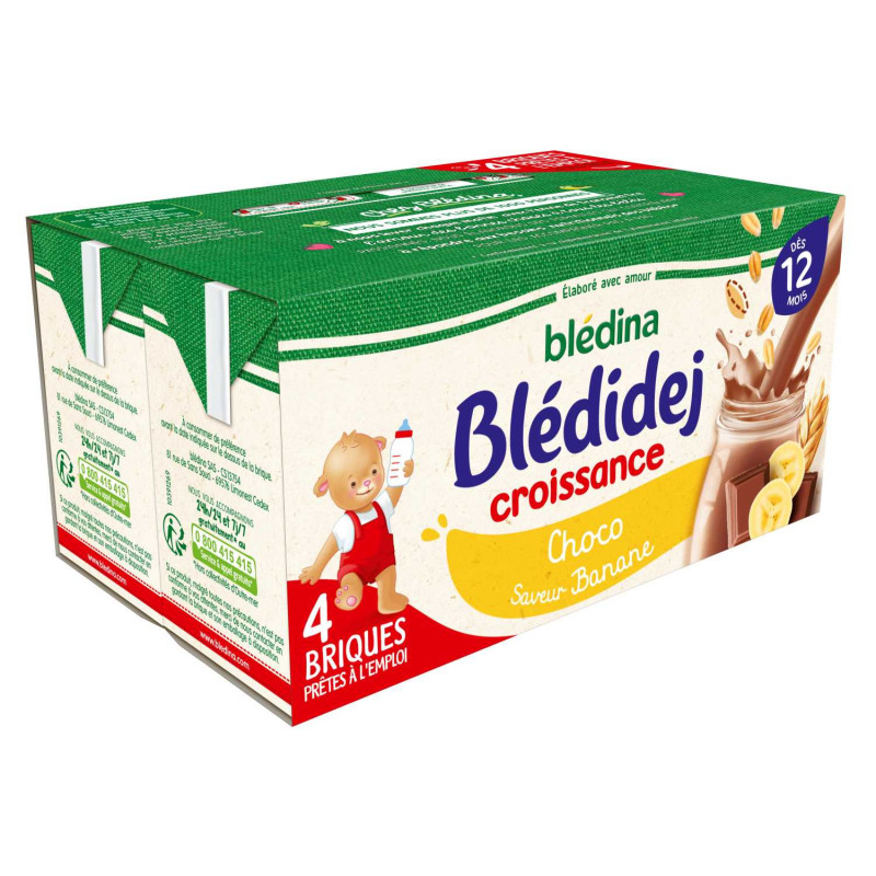 Blédidej Croissance Choco saveur Banane 4x250ml
