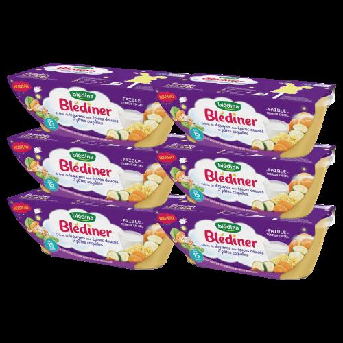 Blédîner - Crème de légumes aux épices douces et pâtes coquilles - 2x200g