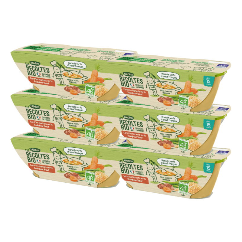 Pack Bio Carottes Haricots verts Boulghour Boeuf