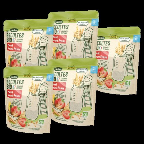 Les Récoltes Bio - Muesli Banane Fraise - 200g