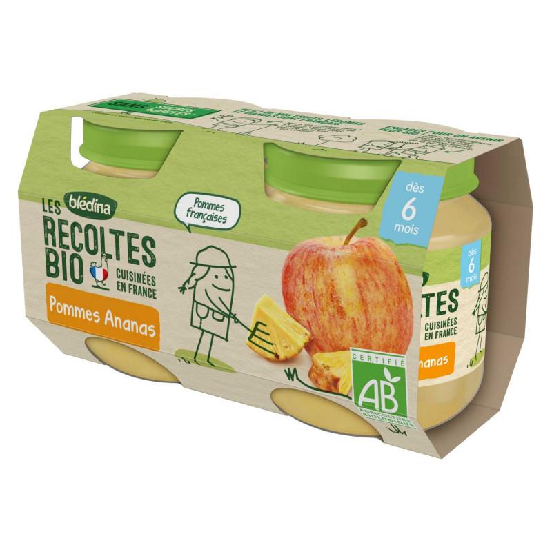 Les récoltes Bio - Pommes Ananas - 2x130g