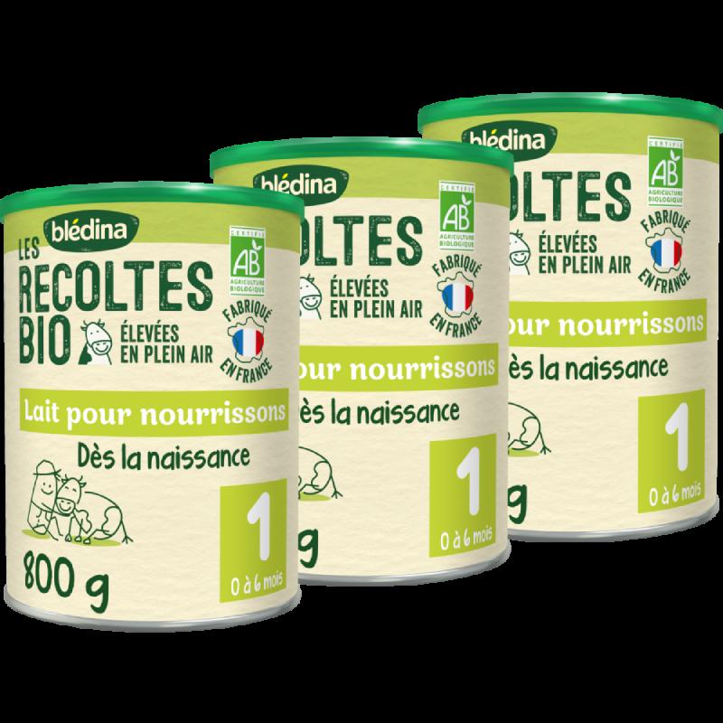 Blédina Les Récoltes Bio en poudre 1er âge de 0 à 6 mois - 800 g
