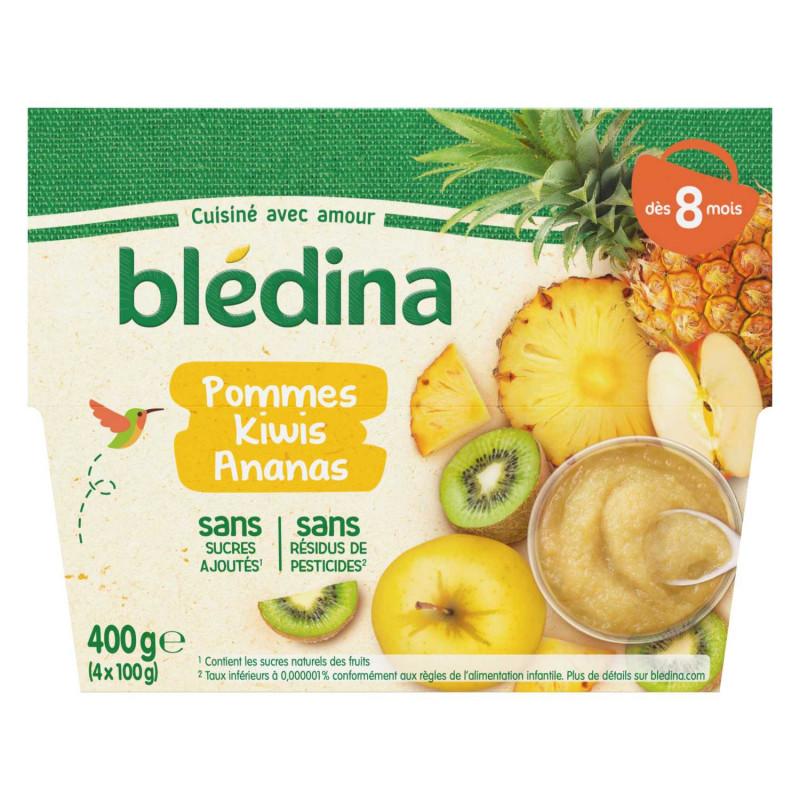 Coupelles Fruits - Pommes Kiwis Ananas - 4x100g