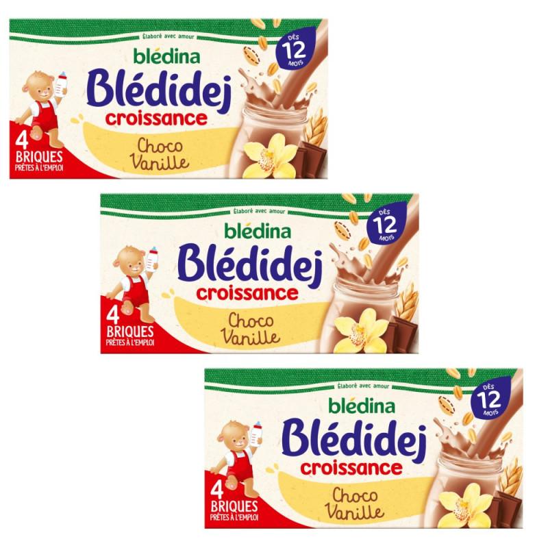 Pack Blédidej Croissance Choco Vanille dès 12 mois