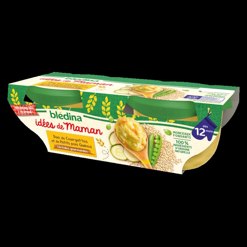 Idées de Maman Céréales gourmandes Duo de Courgettes et Petits pois Quinoa Basilic